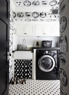 I would happily do laundry here everyday. #fornasetti