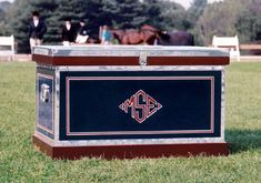 Monogrammed tack trunks - mine will be coffee tables in my home some day!