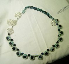 Be Square in This One of a Kind Black and Green by gartenglitz, $24.00