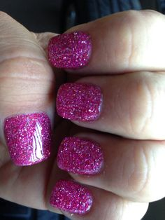 Glittery pink for Easter!!!
