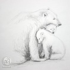 sketching bear cubs | family time - anybody want a bear hug?