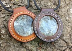 Bushcraft / Naturalist Magnifying Glasses in Leather with Paracord Lanyard by HolyAdventure