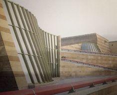 James Stirling, fragment rozbudowy Galerii Miejskiej  w Stuttgarcie, 1977-1984