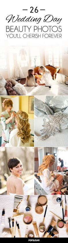 Make sure your wedding photo album is complete by taking these amazing photos on your big day. Get close up shots of the veil, bridesmaids putting on makeup, and more.