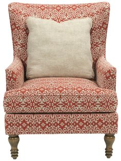 Broyhill Furniture Fiona Transitional Upholstered Wing Back Chair   Becker  Furniture World   Upholstered Chair Twin