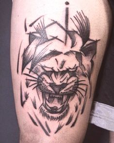 30 Tattoos for Women - Page 29 of 31 - Tattoo Designs Tattoo Sketches, Tattoos For Women, 30th, Lion Tattoo, Tattoo Designs, Tattoo Studio, February, Simple Lion Tattoo, Design Tattoos