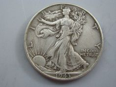 1943 Walking Liberty Half Dollar U.S. Coin VF ##NC08