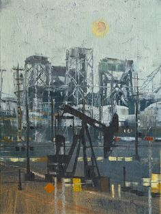 Cityscape, industrial, and Landscape oil paintings from locations including New York, Long Beach, and Los Angeles by artist April Raber. Industrial Paintings, Gcse Art Sketchbook, A Level Art, Landscape Paintings, Landscapes, Built Environment, Abstract Wall Art, Urban Landscape, Art Photography