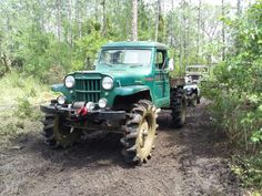 Willys truck with tractor tires - ready for the mud!
