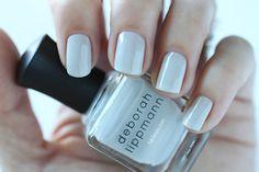 Deborah Lippmann Spring 2015 Misty Morning Swatch - Blue Cream Nail Polish
