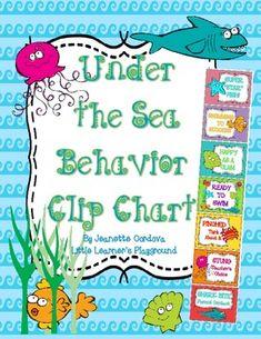 Under the Sea Behavior Clip Chart!!