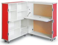 Trunk Station: Home Office on Wheels : TreeHugger Bedroom Furniture Sets, Home Furniture, Bedroom Sets, Furniture Design, Tiny Office, Cubicle Makeover, Cubby Houses, Office Supply Organization, Small Space Storage