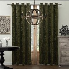 """TwoPages (One Panel) Velvet Solid Polyester Classic Thermal Curtain Drapes (Multi Size, Multi Top Construction Custom Made Available) 72Wx63""""L Grommet Top"""