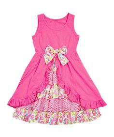 Love this Pink Floral Ruffle Tank Dress - Infant, Toddler & Girls on #zulily! #zulilyfinds