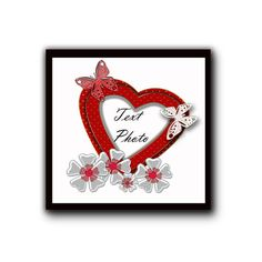 Floral Frame with heart in PNGJPG. Scrapbook от DigitalFuzzyfox