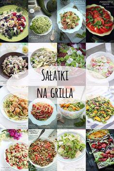 salatki_na_grilla Pesto, Salad Recipes, Healthy Recipes, Salad In A Jar, Polish Recipes, Cobb Salad, Grilling, Salads, Bbq