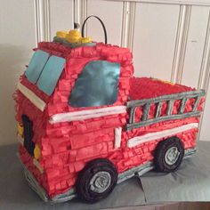 A personal favorite from my Etsy shop https://www.etsy.com/listing/292589085/fire-truck-pinata
