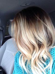 My blonde balayage ombre long bob