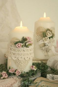 Keep Calm and DIY!: 75 of the Best Shabby Chic Home Decoration Ideas Casas Shabby Chic, Shabby Chic Vintage, Estilo Shabby Chic, Shabby Chic Crafts, Vintage Crafts, Shabby Chic Homes, Shabby Chic Style, Shabby Chic Decor, Vintage Lace