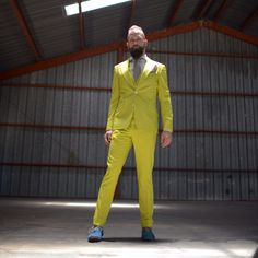 3 piece yellow made to measure suit
