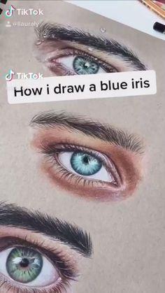 Art Drawings Sketches Simple, Pencil Art Drawings, Realistic Drawings, Iris Drawing, Eye Painting, Color Pencil Art, Diy Canvas Art, Eye Art, Art Sketchbook