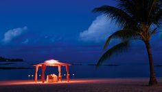 Enjoy the most romantic dinner on the beach at Constance Le Prince Maurice, Mauritius