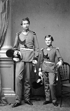 Ludwig II and his brother Otto of Bavaria. Both were diagnosed as suffering from mental illness and had the crown taken away from them.