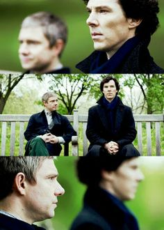 """You take this cold, remarkable, difficult, dangerous, borderline psychopath man, and you wonder what might have happened to him had he not met his best friend, a friend that no one would have put him with – this solid, dependable, brave, big-hearted war hero. I think people fall in love, not with Sherlock Holmes or with Dr. Watson, but with their friendship. I think it is the most famous friendship in fiction, without a doubt."" - Steven Moffat"