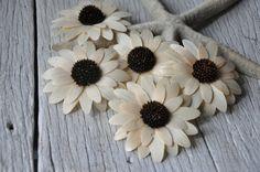 Gerber Daisy - Sunflower - Birch Wood Shavings Crafted Flowers
