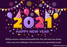 Happy New Year Wishes 2021, Best happy new year messagesm, new year wishes, quotes & greeting cards online #HappyNewyear #HappyNewyearWishes #NewYear2021 #NewYearMessages Best New Year Wishes, New Year Wishes Messages, New Year Wishes Quotes, New Year Message, Happy New Year Quotes, Happy New Year Greetings, Quotes About New Year, Christmas Greetings, Birthday Greetings