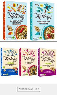 Kellogg's launches W.K. Kellogg brand and effectively enters the organic and vegan categories. By the way, such lovely design and brandmark. Source: www.conveniencestore.co.uk Pin curated by #SFields99 #packaging #design #innovation #ideas #inspiration #branding #creative #product #box #type #pattern #vegan #organic #food #fmcg #retail #consumer