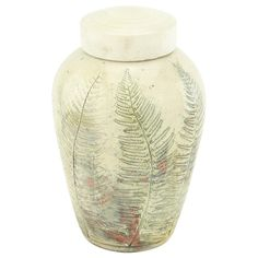 Fern Raku Cremation Urn | Ceramic Urns & Raku Urns