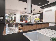 Projekt domu Padme 3 WZ 145,31 m2 - koszt budowy - EXTRADOM Mykonos, House Plans, Conference Room, Sweet Home, Villa, Kitchen, Table, Furniture, Home Decor