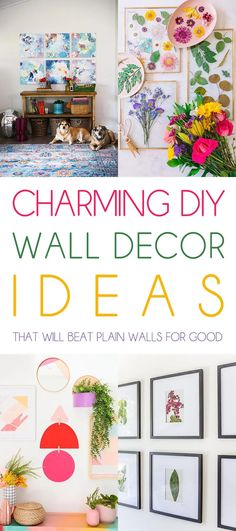 Charming DIY Wall Decor Ideas That Will Beat Plain Walls For Good - The Cottage Market Are you starring at an empty wall in an array of spaces in your home? Well, don't feel alone, many of us are. Sometimes you just don't know what to do with them and unfortunately with time we get use to the blank wall. Well, if you are itching to fill those spaces with something fabulous, you just might want to give one of these DIY Wall Decor Ideas a try.