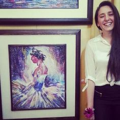Throwback to my very first group exhibition :) 2012 #art #artist #artwork #abstract #ballerina #painting #acrylic #paletteknife #paletteknifepainting #paletteknifeart #exhibition #2012memories #2012