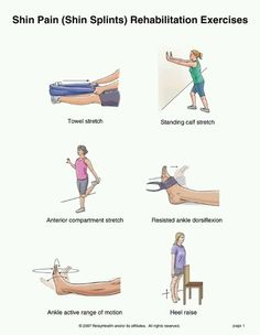 Shin Splints exercises. http://www.ourmindandbody.com/how-to-get-rid-of-shin-splints/