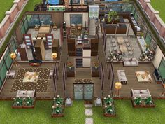 House 57 ground level #sims #simsfreeplay #simshousedesign