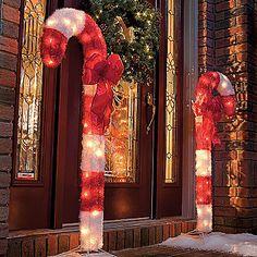 4998 candy cane outdoor christmas decor set of 2 christmas yard decorations outdoor decorations