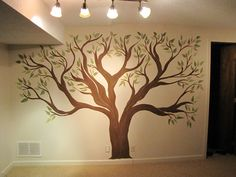 Family tree to be painted in a hallway and decorated with framed pictures of monumental family moments: marriages, births, graduations, ect.