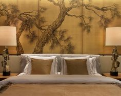 Elegant Asian Bedroom Wall Decor Also Asian Metal Wall Decor 5 Tips For Choosing Perfect Asian Wall Decor For Your Room Interior gutters lafayette la gas fireplace Asian Inspired Bedroom, Asian Bedroom, Oriental Bedroom, Bedroom Murals, Bedroom Themes, Bedroom Decor, Master Bedroom, Bedroom Headboards, Bedroom Furniture