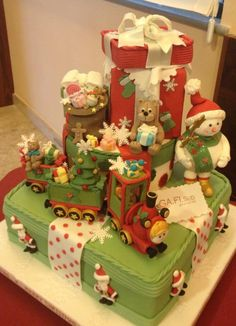 Such a beautiful Christmas cake