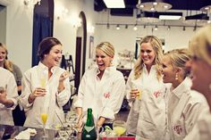 White men's shirts with monograms for hair and makeup on the day of the wedding!