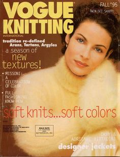 VOGUE KNITTING Fall 1995 Aran Tartan Argyle Jackets DKNY Missoni Vittadini #VogueKnitting