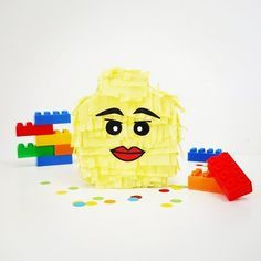 """Trying to resist my urge to post Valentine's stuff on here so Lego it is!  This DIY pinata head tutorial in on the blog search """"Lego party"""" at http://Blog.BirdsParty.com  . . . #twitter #party #birthday #kids #partyideas #creativemom #diy #festa #abmlifeiscolorful #bhgcelebrate #festas #fiesta #festainfantil #instalike #fetes #lego #legobirthday #legoparty #kidsparties #anniversaire #festalego #aniversario #pinata"""