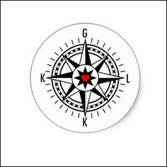 I have been working to design a tattoo... based on a compass Follow your Heart... these are the initials of my husband, children and self...