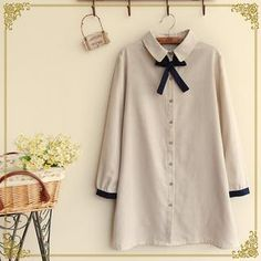 'Fairyland – Bow Accent Long Shirt'