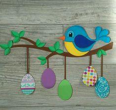 new Ideas hanging bird crafts Bird Crafts, Bunny Crafts, Felt Crafts, Paper Crafts, Art N Craft, Craft Stick Crafts, Preschool Crafts, Diy And Crafts, Easter Art