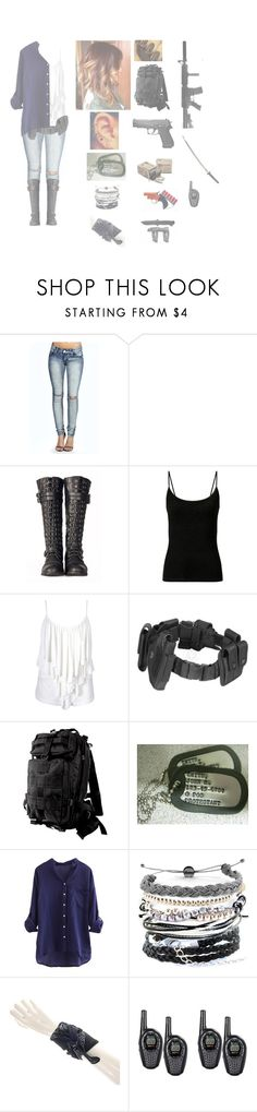 """""""October 25th. The walking dead season 6 episode 3 """"Thank You"""""""" by mollyr5 ❤ liked on Polyvore featuring Boohoo, Farrow & Ball, Retrò, POLICE, Domo Beads and INC International Concepts"""