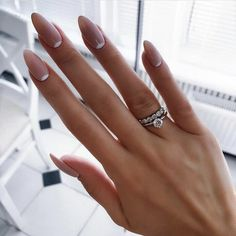 Ideas for Almond Classy Nails. Check out our nails selection for the very best in unique or custom Almond Classy Nails. French Nails, Almond Nails French, Almond Nail Art, Almond Acrylic Nails, French Pedicure, Natural Almond Nails, Almond Shape Nails, Classy Nail Designs, French Nail Designs