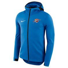NIKE MEN'S OKLAHOMA CITY THUNDER NBA SHOWTIME HOODIE, BLUE. #nike #cloth #